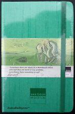 Moleskine Green Silk Shantung Lined Notebook Van Gogh Museum Circa 2002 Mint
