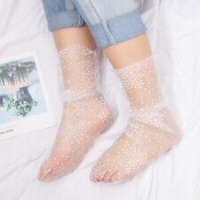 Spring Lace Up Summer Mesh Streetwear Transparent  Socks Dot Socks Mesh Sock