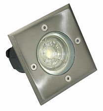 230V LED Garten Bodeneinbaustrahler Bodo GU10 IP67 & 3W COB LED Leuchtmittel