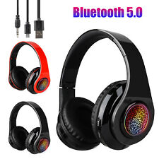 Bluetooth 5.0 Wireless Stereo Headphones Foldable Headset Super Bass Earphones
