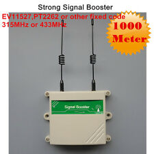 RF Remote Control Wireless Detector Button Signal Amplifier 315 433MHz Repeater