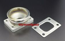 "T25 GT25 GT28 T28 Turbo Inlet To 3"" V Band Stainless Tapped Flange Adp w/GSK"