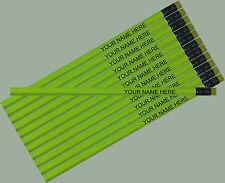 12 pkg - Neon Yellow Personalized Hexagon Pencils - ** FREE PERZONALIZATION**