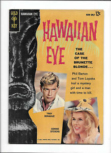 """HAWAIIAN EYE #1 [1963 VG-FN] PHOTO COVER!   """"THE CASE OF THE BRUNETTE BLONDE..."""""""