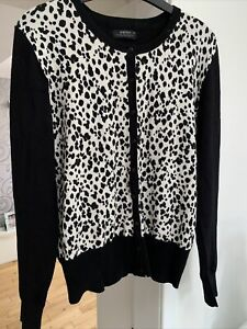 Lovely Ladies  Jersey Top Cardigan Jumper With Animal Print Design Size 14