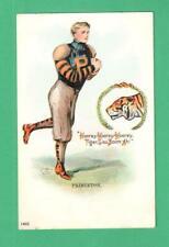 SCARCE 1905 F. EARL CHRISTY POSTCARD FOOTBALL PLAYER PRINCETON UNIV. TIGER