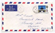 XX92 1972 SEYCHELLES 95c on 85c SURCHARGE Victoria Airmail Cover