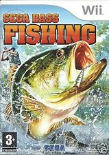 SEGA BASS FISHING for Nintendo Wii - with box & manual - PAL