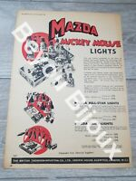 1936 Mazda Mickey Mouse lights Advert From the Passing Show magazine