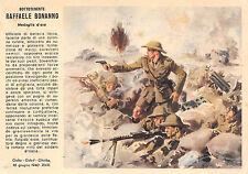 A1220) WW2 FRANCHIGIA MEDAGLIA D'ORO RAFFAELE BONANNO, BATTERIA LIBICA.