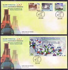2000 Malaysia 100 Years Institute Medical Research 3v & MS on 2 FDC (KL Cachet)
