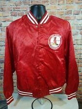 Rare Vintage LOCKER LINE St. Louis Cardinals MLB Baseball Satin Varsity Jacket M