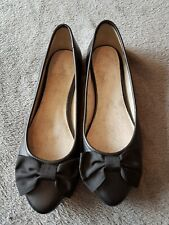 Clarks Black Leather Ladies Shoes Size Uk5 A Very nice looking pair of shoes.