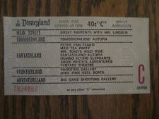 Disneyland  1970's era    C Ticket   40 Cents