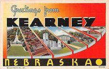 Large Letter postcard Greetings from Kearney Nebraska