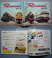 Catalogo Rivarossi 69-70 scale H0 e 0 anni 1969 - 1970 in italiano