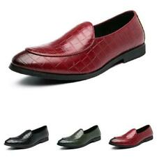 Mens Pointy Toe Oxfords Slip on Nightclub Dress Formal Business Leisure Shoes L