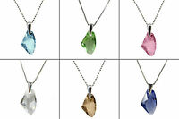 GALACTIC CRYSTAL STERLING SILVER NECKLACE PENDANT, made with SWAROVSKI® Crystals