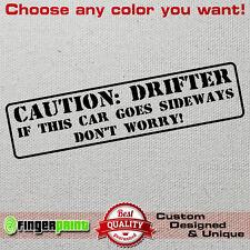 CAUTION DRIFTER decal sticker vinyl drift ae86 sx200 nissan toyota s2000 mx5