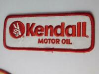 KENDALL MOTOR OIL VICTORY PEACE SIGN VINTAGE HAT PATCH BADGE ADVERTISING RACE