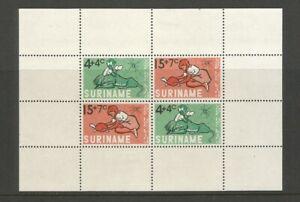 Suriname 1965 Child Welfare Fund Miniature Sheet Mounted Mint SG MS 571