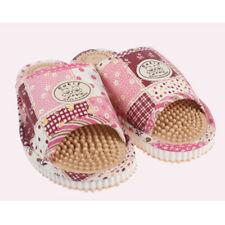 Women Reflexology Acupressure Slipper Scuff Foot Massager Home Shoes PINK