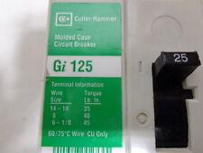 PERFECT EATON / CUTLER HAMMER TYPE Gi125 GI3025 WITH LOAD LUGS
