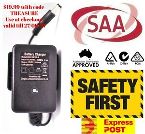 Genuine LED SAA12V 1A Battery Charger Kids Electric Ride On Car Bike Buggy