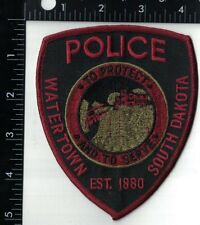 Watertown red Police Patch South Dakota SD