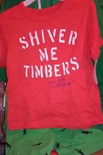 NWT OSHKOSH 100% COTTON SHIVER ME TIMBERS TEE SHIRT AND SHORT SET 3T MSRP $40.00