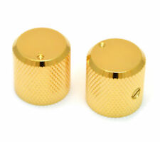 Pair of Gold Barrel Knobs with Indicator for Electric Guitar and Bass