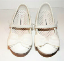 NWT Special Occasion White Sparkle Dress Shoes Cherokee Keisha Bow 5 7 9