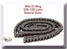 W/O-Ring Drive Chain Natutal Color Pitch 530x150 Links For Honda Kawazaki Suzuki