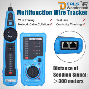 Cable Tester Wire Tracker Network Telephone Line Tracer Toner LAN Phone RJ11 New