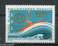 AUTRICHE, 1977, timbre 1385, SPORT, CANOE, neuf**, VF MNH stamp