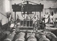 FRANCE. Vignoble de Champagne. Remplissage des futs 1900 old antique print