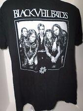Adult Black Short Sleeved Black Veil Birds T-Shirt
