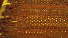 Vintage crochet afghan in hunter green and burgundy