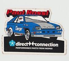 Vintage 1980's Paul Rossi Dodge Daytona Pro Stock NHRA Decal Sticker