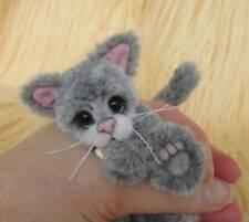 Smog le chat Unique original hand sewn collectionneurs Mini artiste BEAR par JOXY Ours