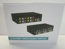 4 Ports RCA Video Audio AV Switch 4 In 1 Out TV Splitter Box (NIB)