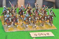 25mm roman era / goth - cavalry 12 figs (plastic) - cav (45948)
