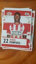 Denzel Dumfries PSV signed Sticker Panini like AH 2018 /2019.