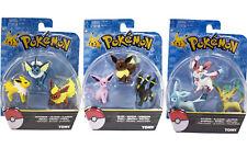 9Pcs Packaged Pokemon Go toy eevee Eeveelutions Includes 3 BOXED pokemon figures