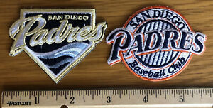 (2) San Diego Padres Iron-On Logo Patches
