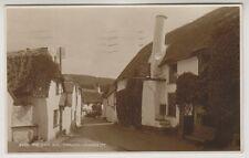 Somerset postcard - The Ship Inn, Porlock - RP - P/U 1939