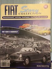 "FIAT STORY COLLECTION "" FIAT 1600 S CABRIOLET "" HACHETTE FASCICOLO"