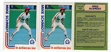 1X MIKE SCHMIDT 1982 O Pee Chee #101 NRMT+ OPC Lots Available