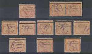 PANAMA 1903-04 REGISTRATION Sc F15 & Unlisted SPECIALIZED GROUP 11 STAMPS
