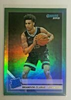 2019-20 Panini Donruss Rated Rookie RC Brandon Clarke Green Flood Holo #220